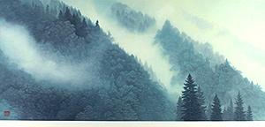 東山魁夷「山雲(新復刻画)」版画