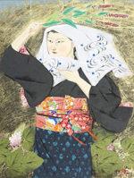 森田曠平「野分(大原女)」日本画12号