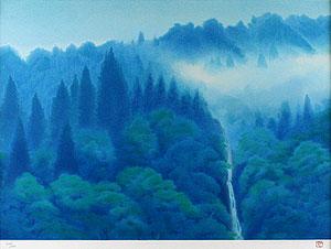 東山魁夷「青渓」版画