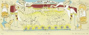 山本容子「シチリアの子守歌」銅版画