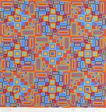 オノサト・トシノブ「Silk-14」版画30.5×30.5cm