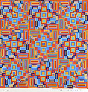 オノサト・トシノブ「Silk-14」版画