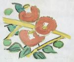 熊谷守一「椿」版画シルクスクリーン46×39cm