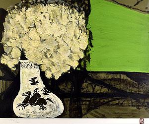 三岸節子「花 ヴェロンにて1989.6」版画