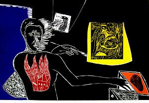 ミンモ・パラディーノ「Introibo ad altare Dei」版画