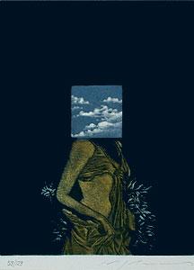 池田満寿夫「Antique Woman」銅版画