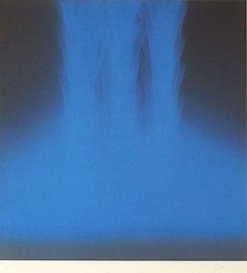 千住博「フォーリングカラー(BLUE)」版画