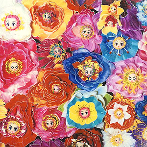 鎌谷徹太郎「Flower Face 15」アクリル