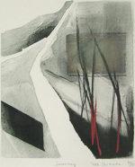 篠田桃紅「Journey」版画31.5×26cm