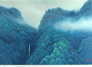 東山魁夷「山峡雨晴(新復刻画)」版画