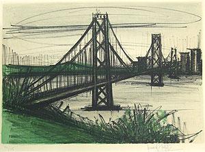 ベルナール・ビュッフェ「オークランドブリッジ」版画