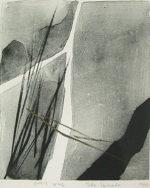 篠田桃紅「Ones way」版画31.5×26cm