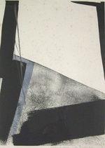 篠田桃紅「Shaden of space」版画59×41cm
