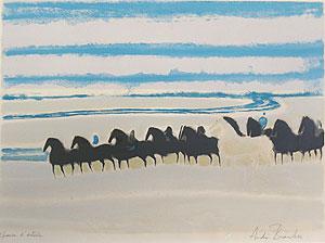 アンドレ・ブラジリエ「馬」版画