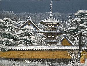 後藤純男「雪景大和」日本画