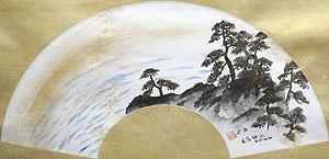 横山大観「朝輝」日本画