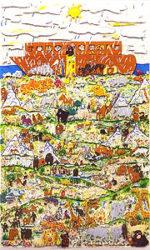 ジェームス・リジィ「FORTY DAYS AND FORTY NIGHTS」3D版画66×40cm