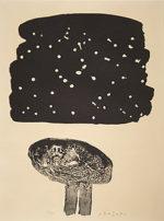 香月泰男「運ぶ人(シベリアシリーズ)」版画46×31cm