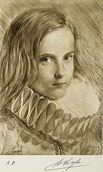 古吉弘「NINA(II)」銅版画