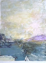 ザオ・ウーキー「鹿内信隆に捧ぐ」版画64×49cm