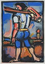 ジョルジュ・ルオー「処刑を手伝う男」銅版画30.5×21.2cm