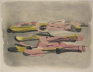 ジャン・フォートリエ「Paysage」銅版画