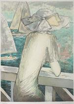 カシニョール「潮騒」版画65×48cm