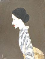 高沢圭一「初秋の女」油彩6号