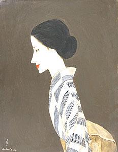 高沢圭一「初秋の女」油彩