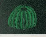 草間彌生「かぼちゃ(GY)」版画22.8×29.8cm