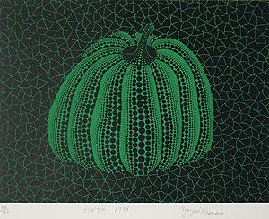 草間彌生「かぼちゃ(GY)」版画