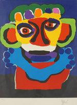 カレル・アペル「戴冠」版画71.5×52cm