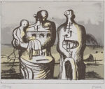ヘンリー・ムーア「Group in Industrial Landscape」版画16.8×21.3cm