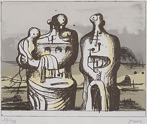 ヘンリー・ムーア「Group in Industrial Landscape」版画