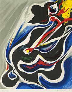 岡本太郎「挑み」版画