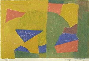 ポリアコフ「Composition jaune, verte, bleue et rouge」版画