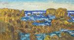 小林和作「海岸風景」油彩12号