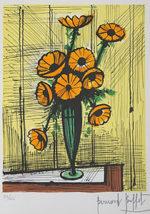 ベルナール・ビュッフェ「マリーゴールド」版画33×24cm