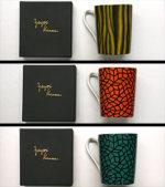 草間彌生「マグカップ」陶器10×11.5cm