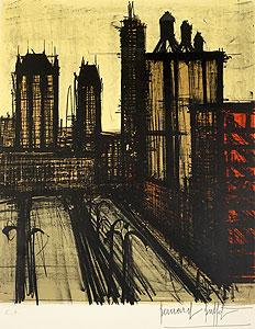 ベルナール・ビュッフェ「ニューヨーク V」版画
