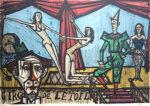 ベルナール・ビュッフェ「パレード-サーカスより」版画68×98cm