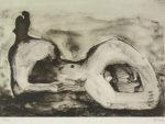 ヘンリー・ムーア「Reclining Figure Cave」版画30×41cm