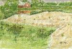 中谷泰「風景」油彩15.8×22.7cm