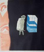池田満寿夫「うつろな心」銅版画49.5×42cm