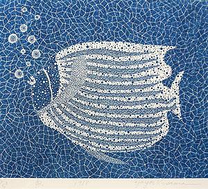 草間彌生「魚(#103)」版画