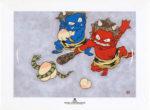 瀧下和之「鬼ヶ島でつんつくつん。」陶板画19.8×24.8cm