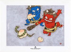 瀧下和之「鬼ヶ島でつんつくつん。」陶板画