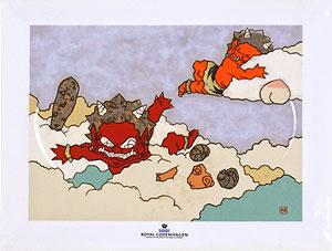 瀧下和之「鬼ヶ島で夢心地。」陶板画