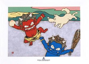 瀧下和之「鬼ヶ島でワンワンワン。」陶板画