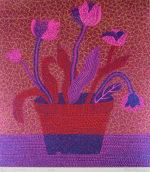 草間彌生「FLOWERS A」版画61×51cm